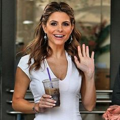 Th gorgeous Maria Menounos rocking our Davenport hoop earrings and Sullivan cuff Become a Lovy Lady and Follow us: @melissalovy