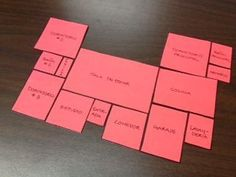 Students have to arrange rooms according to directional clues. Print the floorplan on different colored cardstock and laminate them so that they are easier to work with. Would work well for ELL or world language. French Teacher, Spanish Teacher, Teaching French, Teaching Spanish, Spanish Activities, Teaching Activities, Classroom Activities, Spanish Games, Teaching Ideas