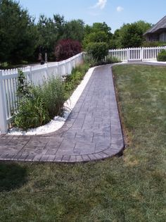 Indiana Stamped Concrete Sidewalks -