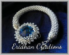 Eridhan Creations - Beading Tutorials: Bezelled octagon and a beaded crochet rope