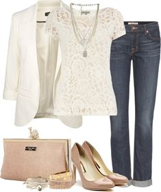 """Untitled #36"" by partywithgatsby on Polyvore - I so so badly want a creme colored business  jacket"