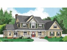 Country House Plan with 2389 Square Feet and 4 Bedrooms from Dream Home Source | House Plan Code DHSW66026