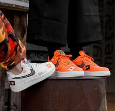 timeless design a3f0f baa70 Nike Air Force 1 low Just Do It Pack orange and white