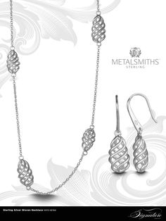 Metalsmiths Sterling, Signature Collection Woven #Necklace.
