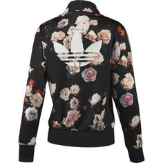 NEW-ADIDAS-ORIGINALS-WOMEN-FIREBIRD-ROSE-FLOWER-BLACK-TRACK-TOP-JACKET-S-M-L