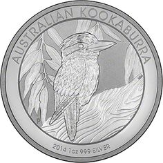 Australian Kookaburra. Available in 1 oz, 10 oz and 1 kilo versions.