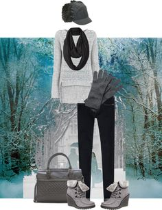 """Walking in a winter wonderland"" by intheclotheset on Polyvore"