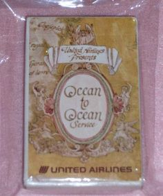 icollect247.com Online Vintage Antiques and Collectables - UNITED ARILINES PLAYING CARDS Paper Ephemera-Other