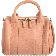 Pre-owned Alexander Wang Pink Rockie Duffel Shoulder Bag ($561) ❤ liked on Polyvore featuring bags, handbags, shoulder bags, pink, pink purse, duffel bags, alexander wang handbags, pink shoulder bag and red shoulder bag