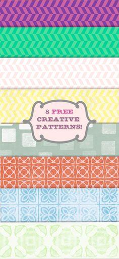 a set of 8 #FREE #creative patterns
