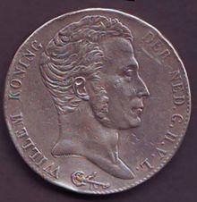 Achterkant van een drie gulden stuk 1820