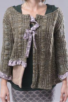Ian Mosh khaki knit cardigan