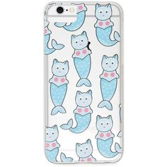 Forever21 Mermaid Cat Case for iPhone 6/6s/7 ($7.90) ❤ liked on Polyvore featuring accessories, tech accessories and forever 21
