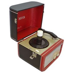 Decca Record Player | From a unique collection of antique and modern more antique and vintage finds at http://www.1stdibs.com/furniture/more-furniture-collectibles/more-antique-vintage-finds/