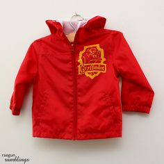 Gryffindor Jacket Tutorial and New and Improved Freezer Paper Stenciling Instructions - Rae Gun Ramblings