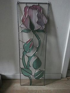 Stained glass rose panel. Jodymaakt.blogspot.com Stained Glass Flowers, Stained Glass Art, Stained Glass Projects, Art Ideas, Trees, Leaves, Plants, Stained Glass Panels, Atelier