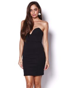 AFTER PARTY DRESS - V-NECK PATTERNED FITTED DRESS - Party Dresses