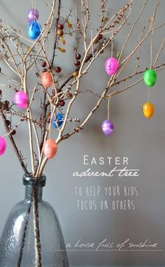 A house full of sunshine: An Easter advent tree