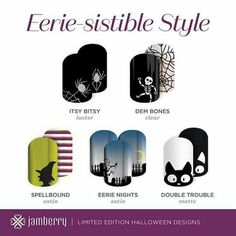 2015 Halloween wraps! Available September 1, 2015! TVJams.Jamberry.com