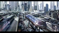 Metropolis of Tomorrow • Concept art for I, Robot by Stephan .Martinière..