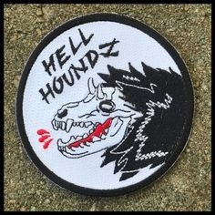 Hell houndz embroidered patch (@corpsetits)