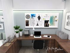 Návrh interiéru pracovne Keď práca teší, pohľad na pracovný stolík Office Desk, Corner Desk, Study, Furniture, Home Decor, Homemade Home Decor, Studio, Desk, Corner Table