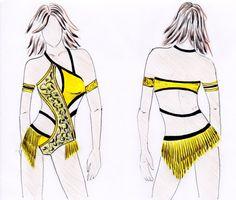 Modello abito body per balli caraibici salsa di CrinolinAtelier