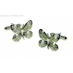 Women's Cufflinks (but not just for women!) - Butterfly Cufflinks