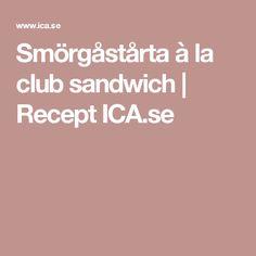 Smörgåstårta à la club sandwich | Recept ICA.se Supreme, Sandwiches, Paninis