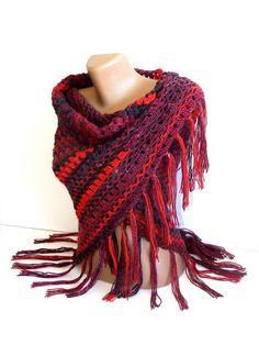 wool crochet shawl
