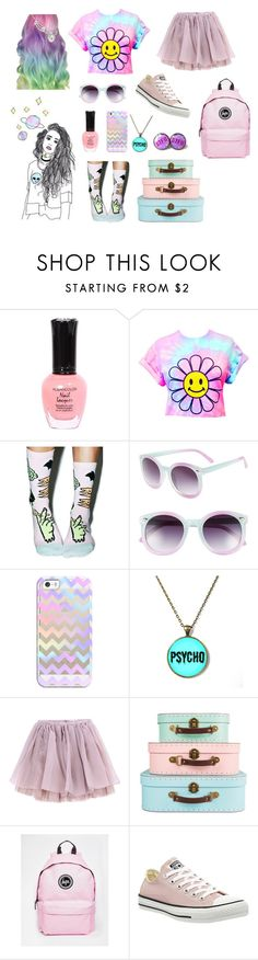 """""""Pastel world"""" by keelhuds ❤ liked on Polyvore featuring Stance, Tildon, Casetify, Olympia Le-Tan, Hype and Converse"""
