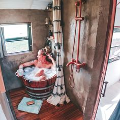 Likes, 184 Comments - Bus Life School Bus Tiny House, School Bus Camper, Bus Remodel, Trailer Remodel, Bus Life, Camper Life, Camper Van, Tiny House Cabin, Tiny House Living
