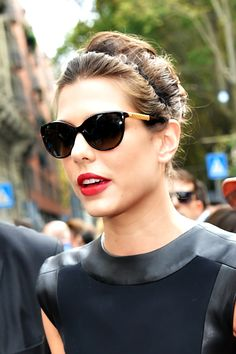1bcdb458b8ee Charlotte Casiraghi arriving at the Gucci SS 2015 show in Milan, Italy  Cheap Ray Ban