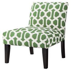 avington armless slipper chair greenwhite trellis by target