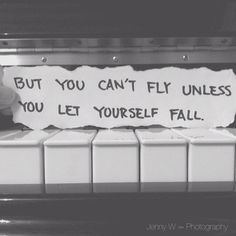 You can't fly unless you let yourself fall