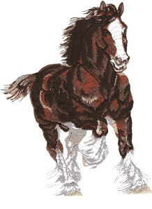 Clydesdale Horse Embroidery Design by Floriani Babylock Embroidery Machine, Machine Embroidery Projects, Embroidery Software, Machine Embroidery Applique, Hand Embroidery Patterns, Cross Stitch Embroidery, Embroidery Digitizing, Cross Stitching, Sewing Patterns