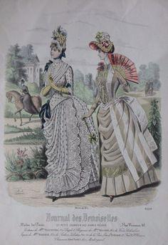 Journal des Demoiselles 1885 Gothic, Victorian Steampunk, Victorian Women, Edwardian Era, Victorian Era, Old Dresses, Vintage Dresses, 1880s Fashion, Women's Fashion