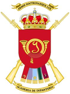 Coat of Arms of the Spanish Infantry Academy.svg