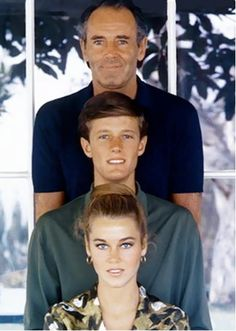 The Fonda's, Henry, Peter and Hanoi Jane Fonda. Father, son and daughter.