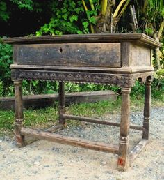 Ilocos-type Mesa Altar from Ilocos Norte, possibly c. early century (Narra and Balayong) Altar, Ilocos, Furnitures, Antique Furniture, 19th Century, Entryway Tables, Type, Antiques, Home Decor