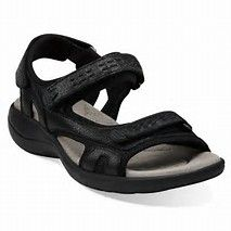 7e356094223 Morse Tour in Black Leather - Womens Sandals from Clarks. Cheap Sandals