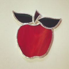 Stained glass apples I made. Great for gifts for teachers!