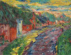 "lawrenceleemagnuson: ""Emil Nolde (1867-1956) Friesenhäuser II (1910) oil on canvas 65.1 x 82.5 cm """