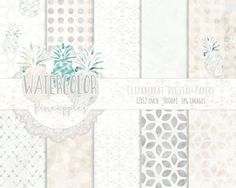 TROPICAL BEACH Digital Paper Pack Commercial Use by ClipArtBrat