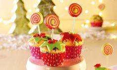 Mini-Muffins mit Marzipanlollies - Süsse kleine Muffins mit Marzipan-Dekoration.