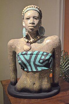 "Woodrow Nash, ""Abena,"" Ceramic Sculpture, ca. 2012."