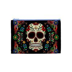 Fiesta skull cosmetic pouch