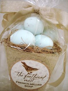 Bathroom Decor at The Everyday Home: Blue Birds Egg Soaps Giveaway by General Store Soaps Co.