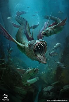 Ocean Monsters, River Monsters, Myths & Monsters, Ocean Creatures, Woodland Creatures, Fantasy Creatures, Mythical Creatures, Fantasy Monster, Monster Art