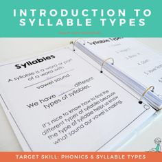 Introduction to the definition of a syllable and t Spelling Help, Spelling Rules, Spelling Activities, Teaching Activities, Teaching Ideas, Phonics Rules, Teaching Phonics, Word Study, Word Work